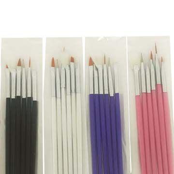 Kit Pincel Para Unhas Artísticas com 6 Pincéis JD-2055