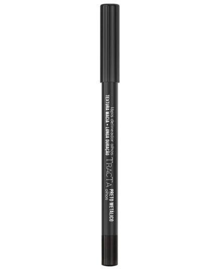 Lápis Delineador para Olhos Preto Metálico Tracta