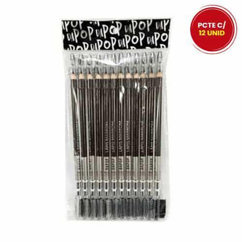 Lápis de Olho Marrom Com Pincel Dapop HB97453 - Pcte c/ 12 unid