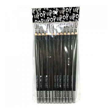 Lápis de Olho Preto Dapop HB97451 - Pcte c/ 12 unid