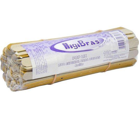 Lixa para Unhas Rolito 11cm HigiBras 281 – Pcte c/ 100 unid