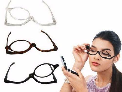 Óculos Para Maquiagem com Lupa de Aumento