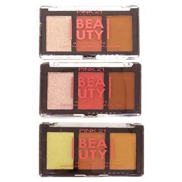 Paleta de Contorno Iluminador e Blush Pink 21 Cosmetics CS2375