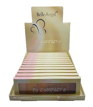 Paleta de Pó Compacto Belle Angel T008 / B070  - Box c/ 12 unid