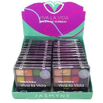 Paleta de Sombras Viva la Vida Jasmyne JS6017 – Box c/ 24 unid