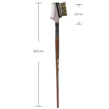 Pincel Duo Pente e Escova para Cílios e Sobrancelha Macrilan M119