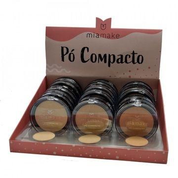 Pó Compacto Facial Mia Make 208 – Box c/ 24 unid