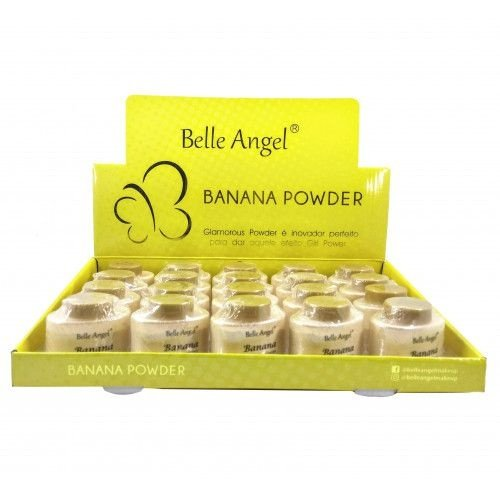 Pó Facial Banana Glamorous Powder Belle Angel T013 - Box c/ 20 unid