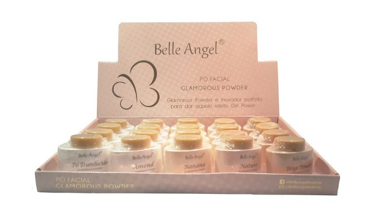 Pó Facial Glamorous Power Belle Angel B076 - Box c/ 20 unid