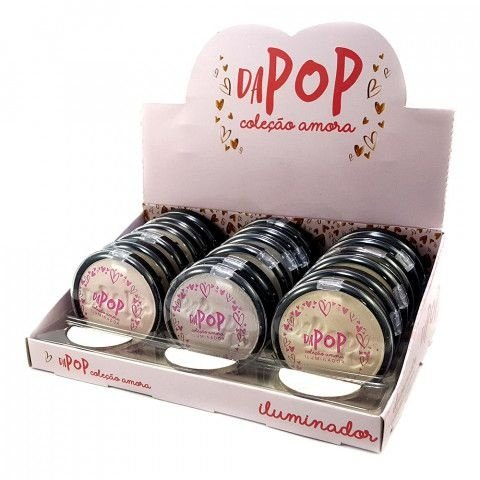 Pó Iluminador Coleção Amora Dapop DP2011 - Box c/ 18 unid