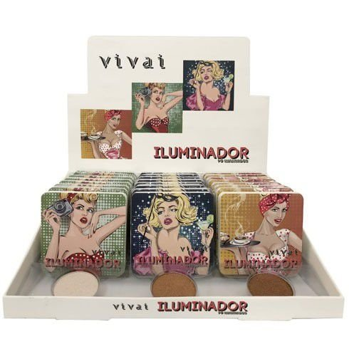 Pó Iluminador Pin Up Vivai 2184 - Box c/ 24 unid