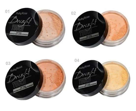 Pó Solto Bright Touch Loose Powder Ruby Rose HB-7221 - Kit c/ 04 unid