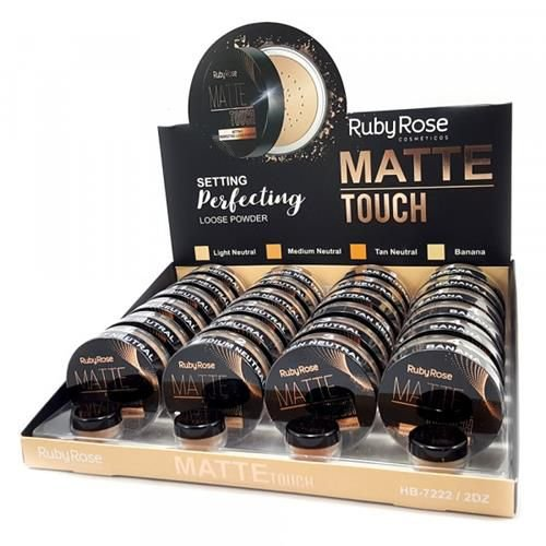 Pó Solto Matte Touch Loose Powder Ruby Rose HB-7222 - Box c/ 24 unid