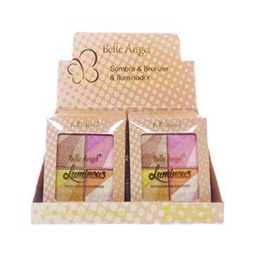 Quarteto de Sombra Bronzer e Iluminador Belle Angel T027 – Box c/12 unid