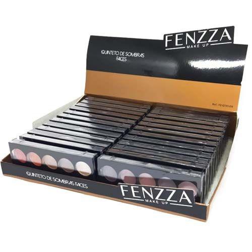 Quinteto de Sombras Faces Fenzza FZ-QT03-DS - Box c/ 24 unid