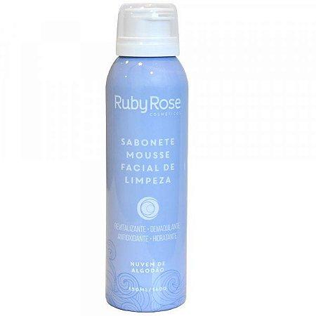 Sabonete Mousse Facial de Limpeza Nuvens de Algodão Ruby Rose HB-320