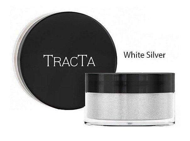 Sombra Glitter em Pó Cor White Silver Tracta