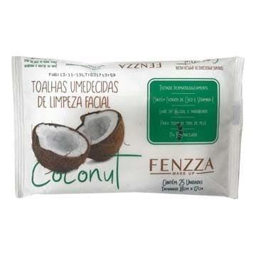 Toalhas Umedecidas de Limpeza Facial Coconut Fenzza FZ51016