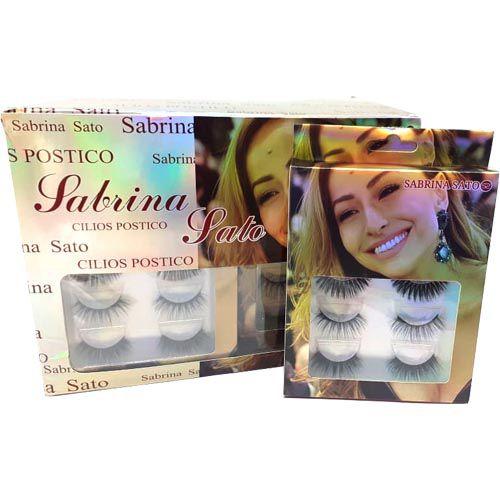 Cílios Postiços Sabrina Sato SS-633 - Caixa c/ 05 pares – Box c/ 12 unid