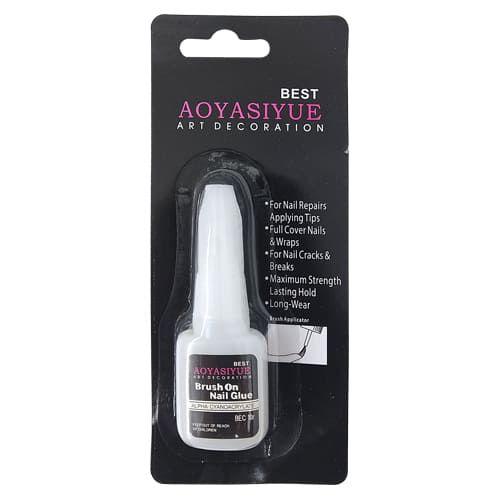 Cola para Unhas Postiças Brush Onls Nail Glue DF-2365/JS-004/JS-005/HB-503/JS-053 – Pcte c/ 12 unid