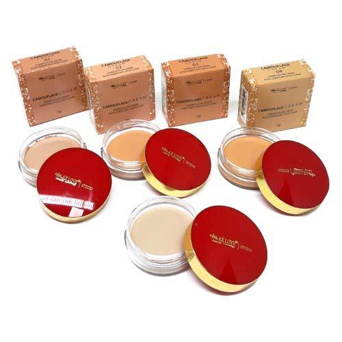 Corretivo Camouflage Cream Max Love Pele Clara Cor 01 ao 04 – Kit c/ 04 unid