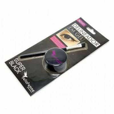 Delineador em Gel Super Black Bella Femme BF10054 - Kit c/ 06 unid