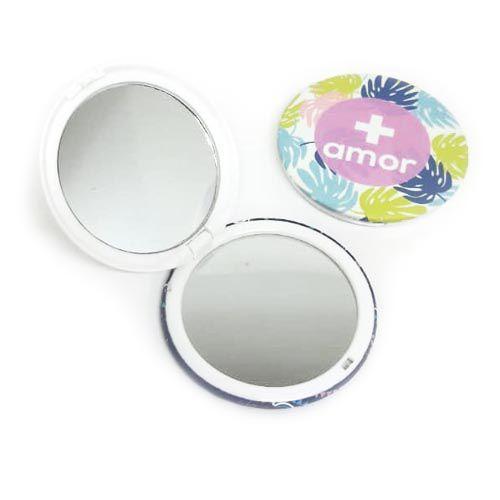 Espelho de Bolsa Redondo Estampado Becky ESP-B02