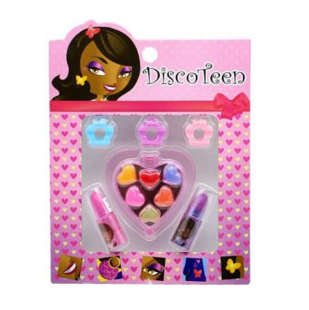 Estojo de Maquiagem Infantil Disco Teen HB86503 - Kit c/ 03 unid