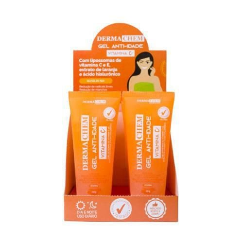 Gel Anti-Idade Vitamina C Dermachem – Box c/ 06 unid