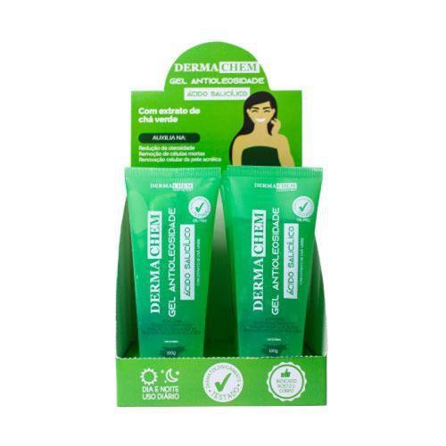 Gel Antioleosidade Ácido Salicílico Dermachem – Box c/ 06 unid