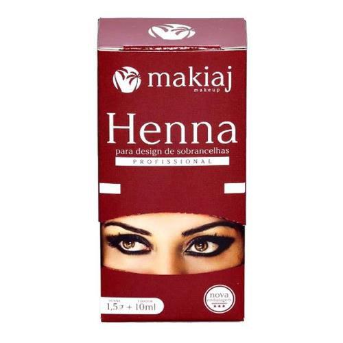 Henna para Design de Sobrancelha Profissional Makiaj - Cor Castanho Médio