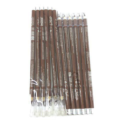 Lápis para Sobrancelha com Apontador Miss France MF-7717 - Pacote c/ 12 unid