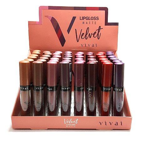 Lip Gloss Velvet Matte Vivai 3010 - Box c/ 48 unid