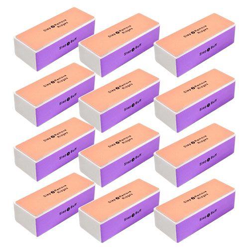 Lixa Polidora de Unhas Bloco 4 Faces BM1001-1 / BM1001-6 - Pcte c/ 12 unid
