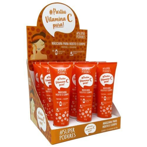 Máscara Bisnaga Vitamina C Super Poderes MFSP02 – Box c/ 12 unid