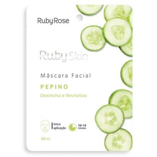 Máscara Facial de Tecido Pepino Skin Ruby Rose HB-702