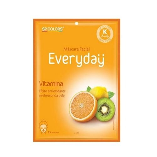Máscara Facial Everyday Vitamina SP Colors EV004 – Pcte c/ 10 unid