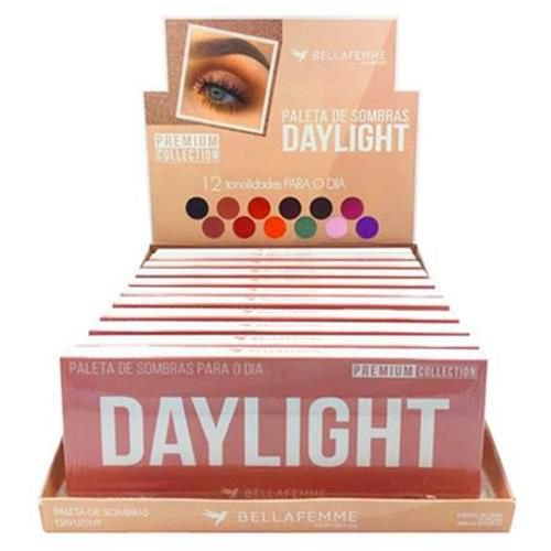 Paleta de Sombras Daylight Premium Collection Bella Femme BF10064 – Box c/ 12 unid