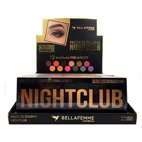 Paleta de Sombras Nightclub Premium Collection Bella Femme BF10063 – Box c/ 12 unid