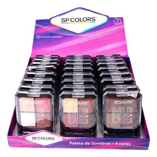 Paleta de Sombras Nude Day By Day SP Colors SP150 – Box c/ 24 unid