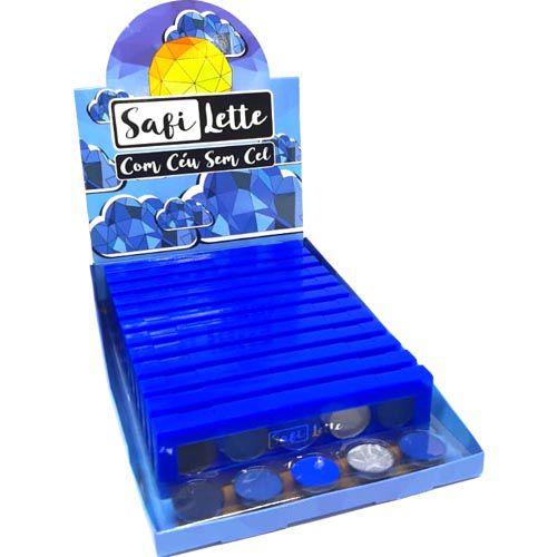 Paleta de Sombras Safi Lette Céu Safira – Box c/ 12 unid