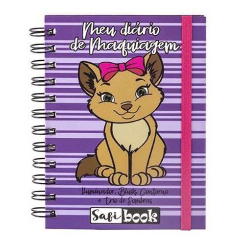 Paleta Meu Diário de Maquiagem Safi Book Gato Safira – Kit c/ 06 unid