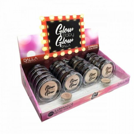 Pó Iluminador Facial Pocket Glow Baby Glow Dalla Makeup DL0406 - Box c/ 20 unid