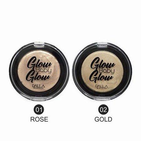 Pó Iluminador Facial Pocket Glow Baby Glow Dalla Makeup DL0406 - Kit c/ 02 unid