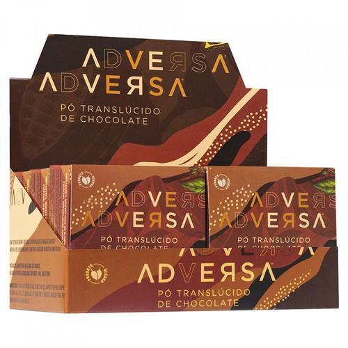 Pó Translúcido de Chocolate Vegano Adversa AD109 – Box c/ 06 unid