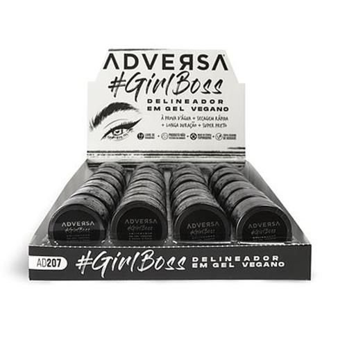 Delineador em Gel Vegano Girl Boss Adversa AD207 – Box c/ 24 unid