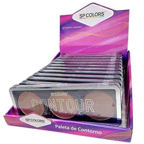 Paleta de Contorno The Perfect Shade SP Colors SP 180 – Box c/ 12 unid