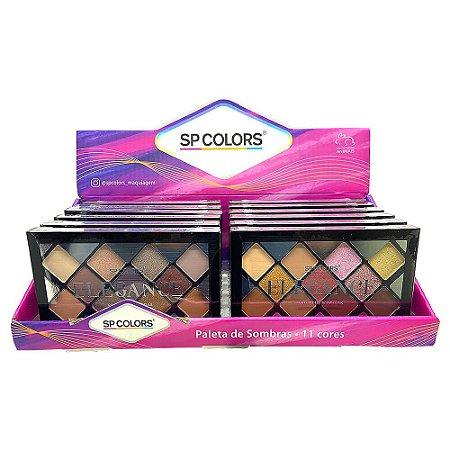 Paleta de Sombras Elegance SP Colors SP143 – Box c/ 12 unid