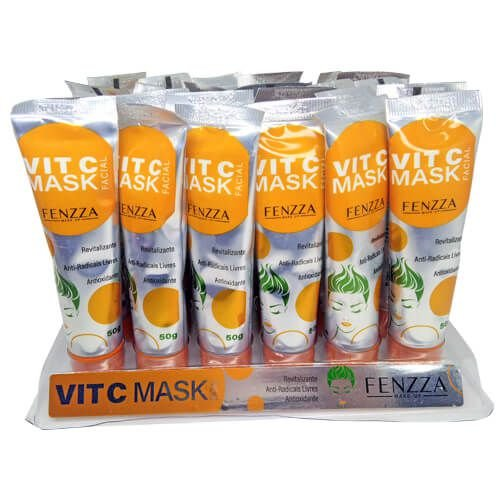 Máscara Facial Vit C Mask Fenzza FZ38023 - Box c/ 24 unid