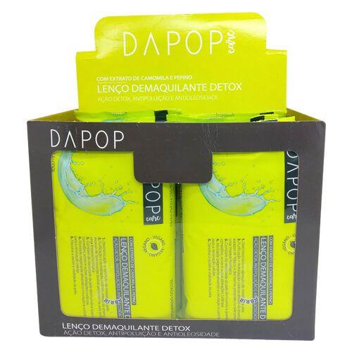 Lenço Demaquilante Detox Dapop Care DP2026 - Box c/ 12 unid